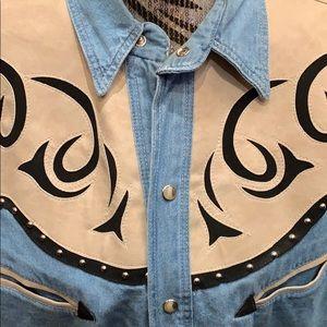 rivergold Tops - Vintage western denim bottom up